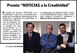 Premio a La Creatividad