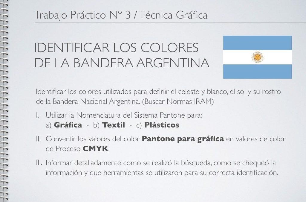 TP Nº 3/TG: Identificar los Colores de la Bandera Argentina.