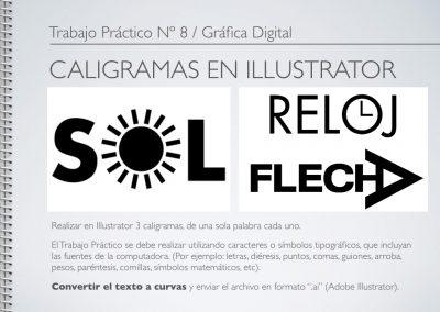 TP Nº 8/GD: Caligramas en Illustrator.