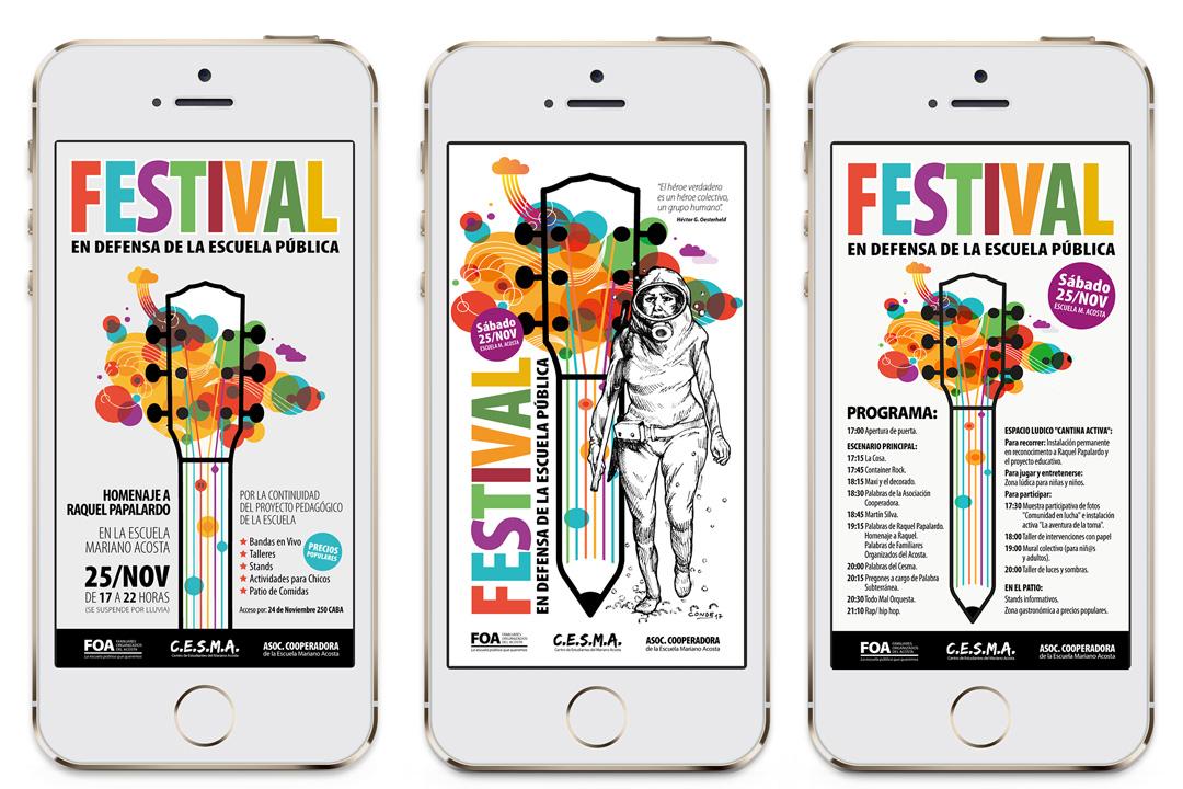 Flyers de Festival para WhatsApp